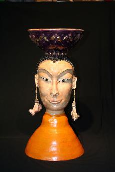 Ceramic sculpture of Karma